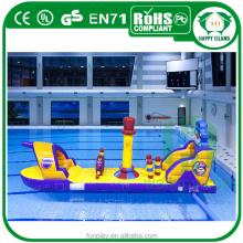 HI pool inflatable floating water park, kids giant inflatable water park games for fun