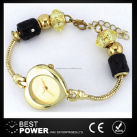 Fashion lady beads bracelet watches