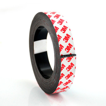 Self Adhesive Magnet Strip Cuttable Roll Sticky Back Magnetic Tape for Crafts Gifts Office Home