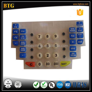 High Quality High Precision Silicone Keypad with Spray UV coating