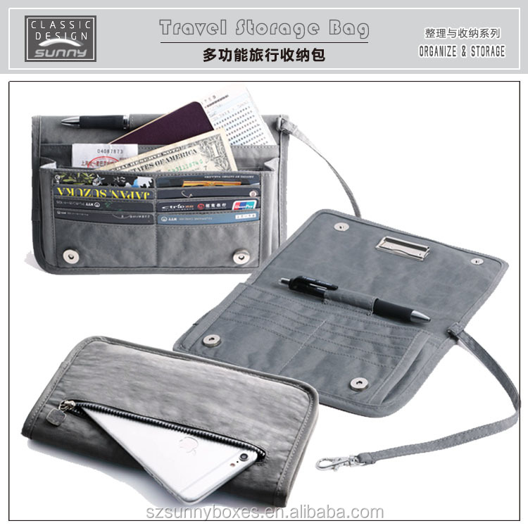 High Quality Nylon Multi-Pockets Design Functional Mobile Phone Wallet Bag For Apple iPhone & Samsung