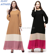 Arabic ladies sexy kaftan dress Plus Size Muslim chiffon long Sleeve Abaya Kaftan Malaysia Dubai arab dress