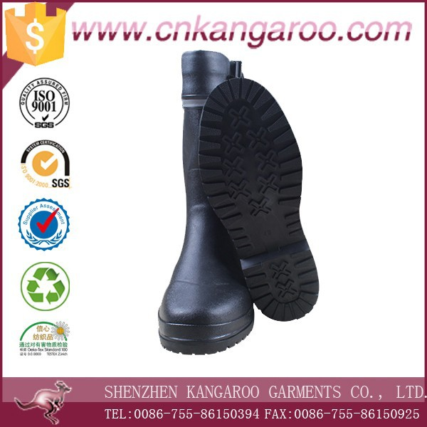 Natural Rubber Black Anti-ozone Anti-UV Reflective Rain Boots Wholesale