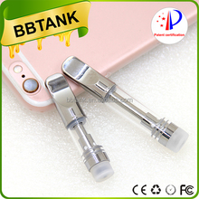 Stainless steel glass cartridges 510 oil vaporizer pen tank atomizer with air-control oil valve 100% no leaking vapo