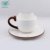 cut cartoon design tableware ceramic coffee cups and saucers for daily using