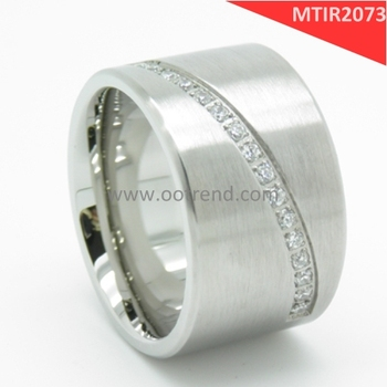 18K white gold CNC machine wide ring pictures for men