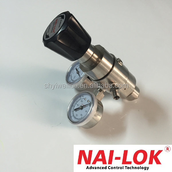 high pressure stainless steel two stage hydrogen pressure regulator