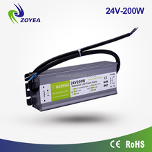 Factory Price! 200w 5v 12v 24v 36v 48v IP67 waterproof led driver 24vdc power supply for outdoor LED lighting