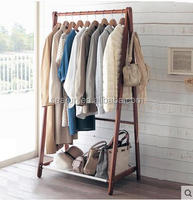 2016 Antique Wooden Clothes Hanging Rack Clothes hanger stand