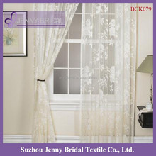 BCK079 fancy white window lace curtain
