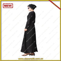 Latest designs black abaya hot sale in dubai Ethnic women abaya