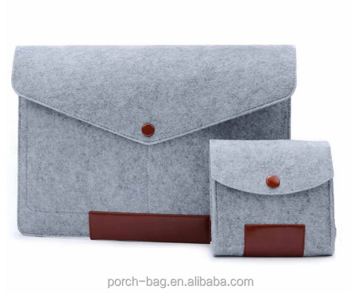 "custom 19 Inch Felt Sleeve Cover Carrying Case Laptop Bag for Apple 13"" Macbook Pro"