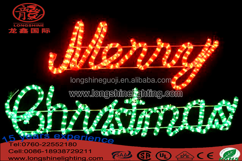 Merry Christmas LED Rope Light Silhouette Outdoor Christmas Light