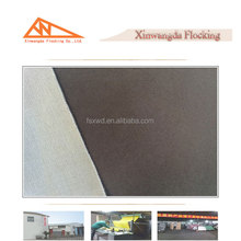 China brown gray long velvet flocking fabric knitted fabric manufacturer
