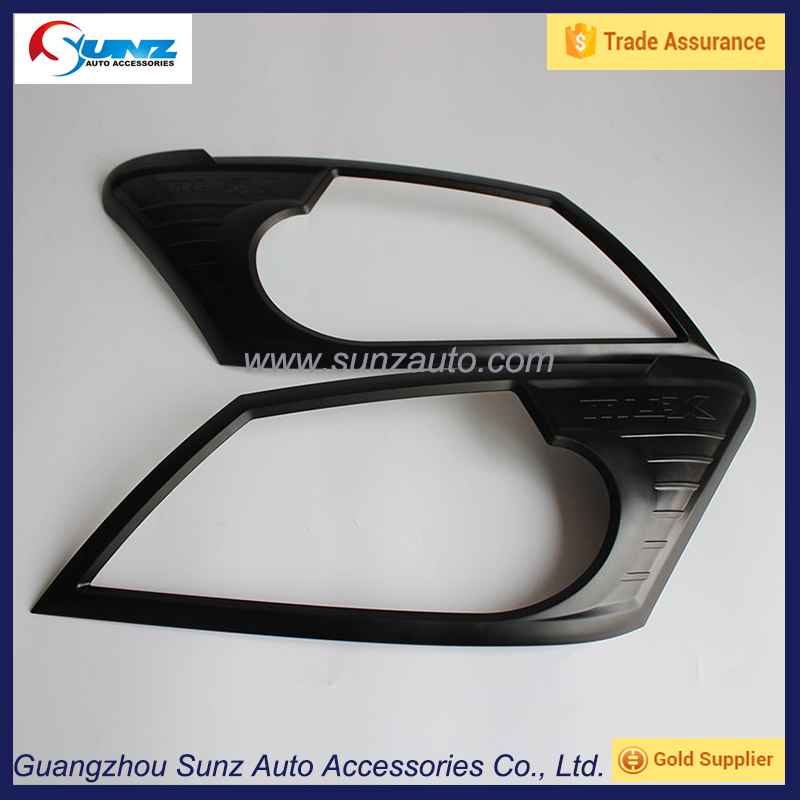 headlight covers trims for MUX 2014 headlamp cover mux 2015 head light cover alibaba china 4x4 car accessories