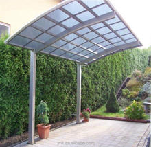 Polycarbonate cantilever carport with aluminum carport