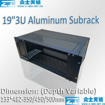 3U/133*483-350/450/500MM 19 inch full aluminum server subrack case, metal box for computer