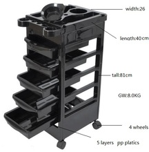 Salon Trolley Storage Cart Coloring Beauty Hair Dryer Holder Stylist <strong>Equipment</strong>