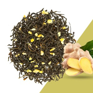 Best Selling Chinese Organic Brands Health Benefits Natural Ginger Flavoured Drink Blending Ginger Black Tea leaf
