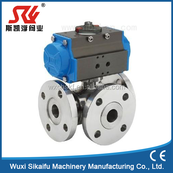 Durable in use stainless steel flanged ends ball valve