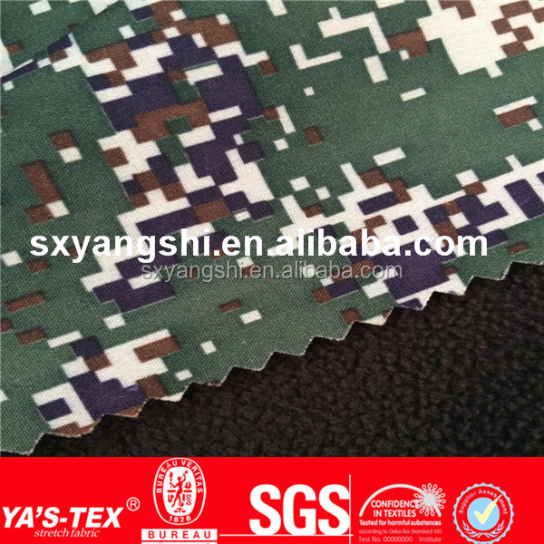New Products Anti-Pilling 2 layers Bonded Polyester Polar Fleece Fabric camouflage fabric wholesale