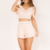 Womens Discount Designer Pink V-neck Two Piece Cheap Homecoming Dresses