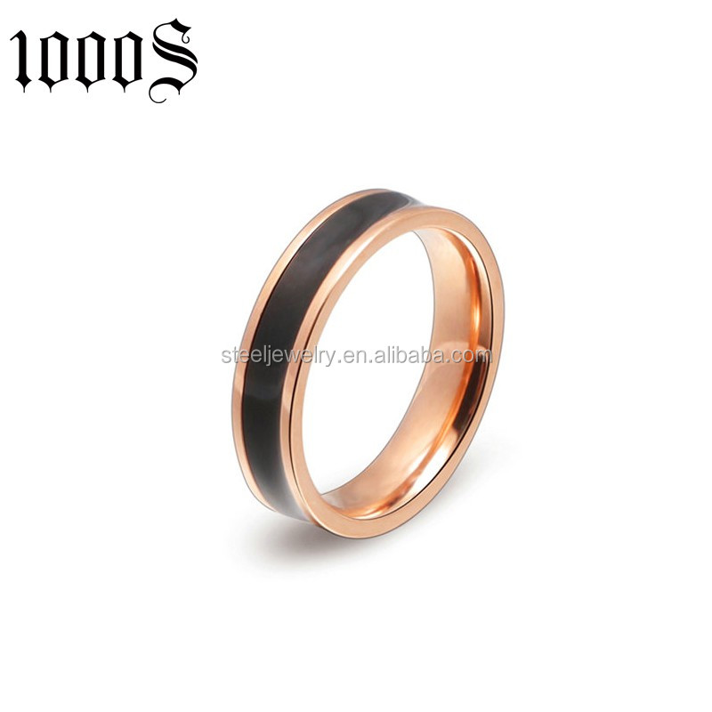 new style stainless steel engagement wedding ring in fashion jewelry
