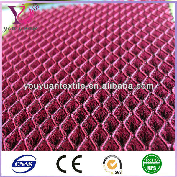 Shiny Car seat sandwich 3D mesh fabric polyester mesh fabric for sport shoes , mattress