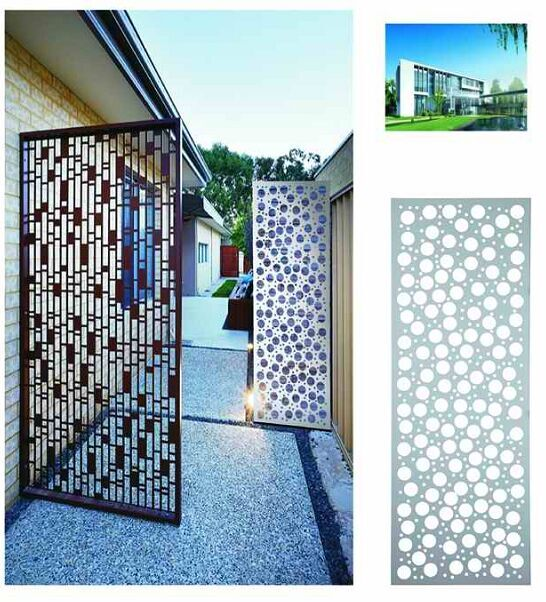 Decorative Aluminum Panel Metal Perforated Fence Gates Window Laser Cut Carve Panels