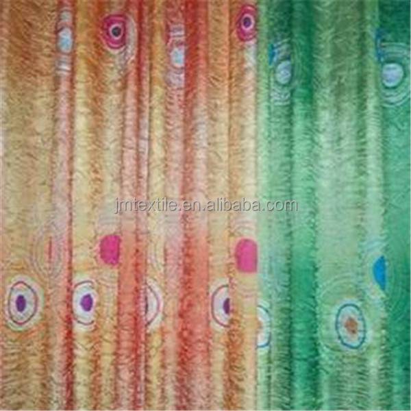 embroidered fancy whole sale embroidered sheer voile curtain fabric,