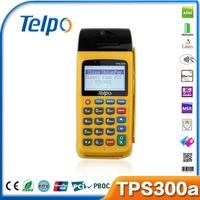 Telpo New Product TPS300A EFT Restaurant Wireless POS Machine with Mini Printer