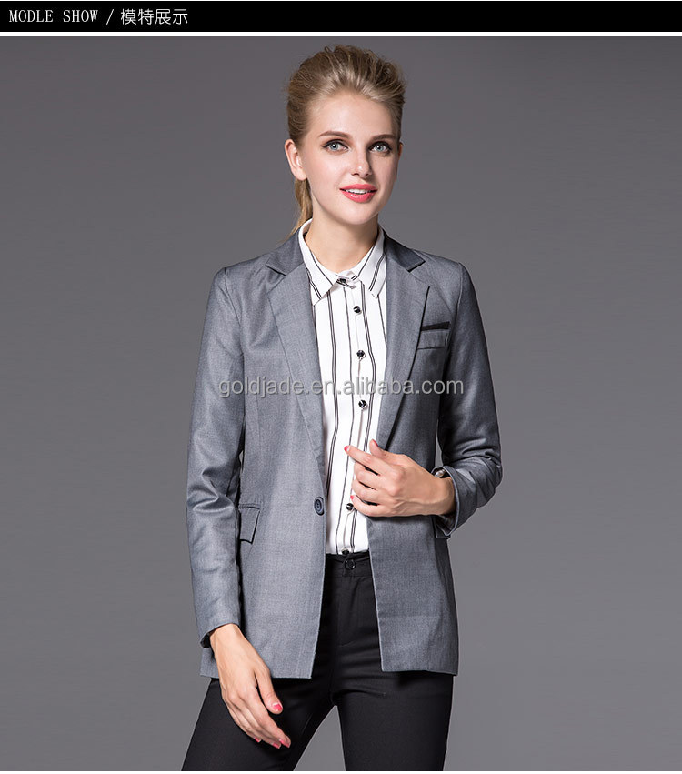 2016 office ladies suits slim cut ladies tuxedo pant suit