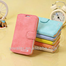 Candy Color Vintage Scrub Leather With Stand Flip Case For Samsung Galaxy Note2 N7100