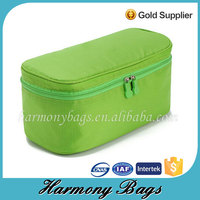 Mens travel wash green polyester toilet bag