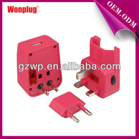 2014 new small size travel power charger with 5v 1a usb output converient for using all over the world