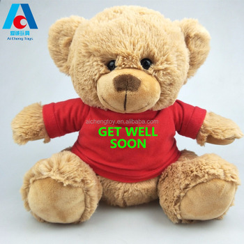 Lovely 25cm plush toy bear soft teddy bear toys with t-shirt plush animal toy bear