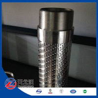 Stainless steel bridge slotted water filter well drilling screen pipe(fctory)