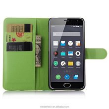 Mobile phone accessories New Arrival Luxury Stand Flip Leather Case for MEIZU M2