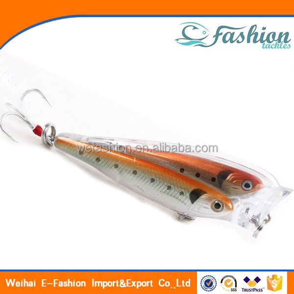 ILURE Fishing Lure Weihai 9cm 10g Plastic Hard Popper Lure