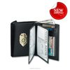 wholesale custom genuine pu leather wallet with badge