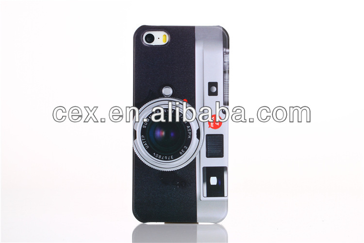 New Arrival high Quality Ultra Thin Camera Design Hard PC Plastic Case for iPhone 5 5S