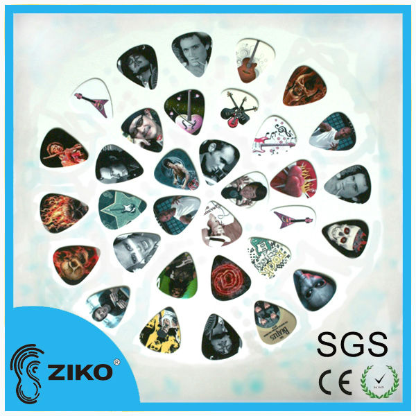 different colors celluloid guitar pick for esp guitar