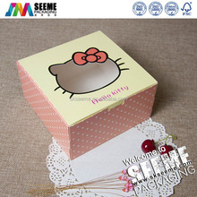 Cake Board With Cute Printing Cake Packaging Box