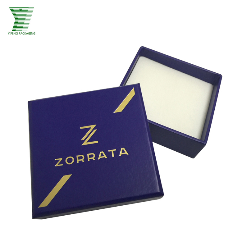 Customer design square hat cardboard packaging jewellery box
