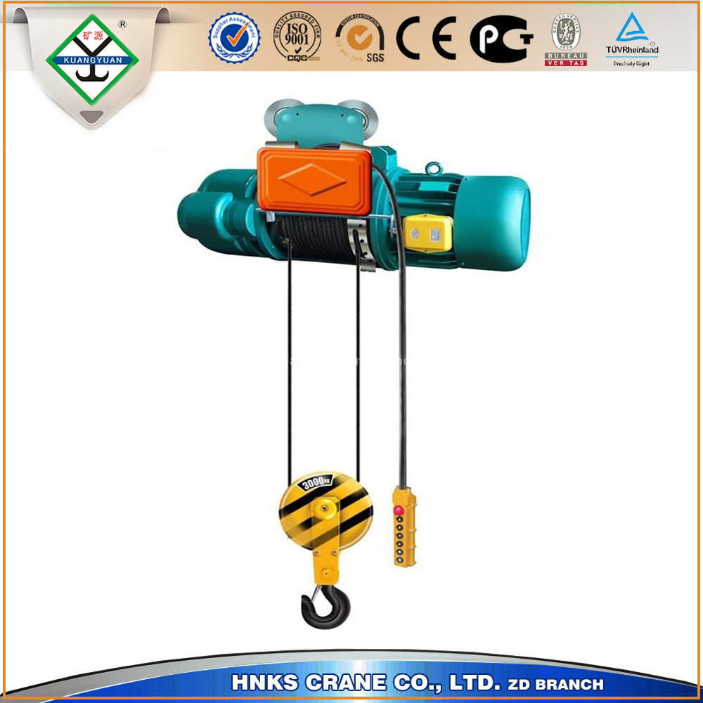factory price used light construction lifting equipment,electric wire rope hoist for sale