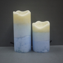 Wave Top Soy Wax Color Layered LED Wax Candles