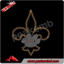 Beautiful Rhinestone Iron On Transfer Fleur De lis