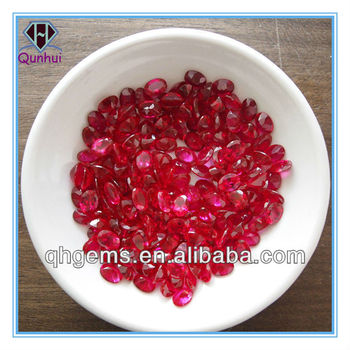 Oval Cut Synthetic Corundum Ruby Price