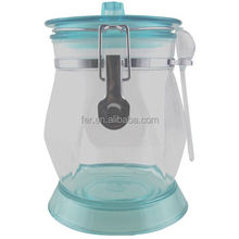 401708 Plastic storage jar with cover Canned nuts/Plastic seal pot transparent creative storage