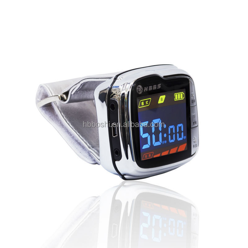 lllt Soft 650nm Bio Laser wrist band blood pressure control watch